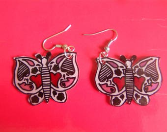 Butterfly Magic plastic earrings