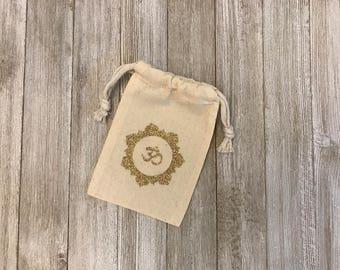 OM Sign-Muslin Bags-Party Favors-Gifts