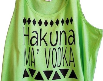 Disneyland Vacation Shirt - Hakuna Ma' Vodka - Lion King Shirt - Women's Tank Top