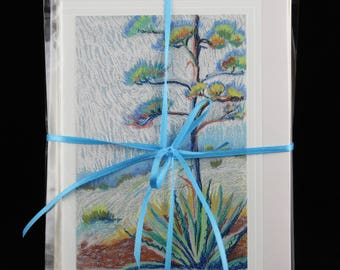 Packet of 4 Arizona Art Note Cards, Southwest Cards from Art by Karlene Voepel