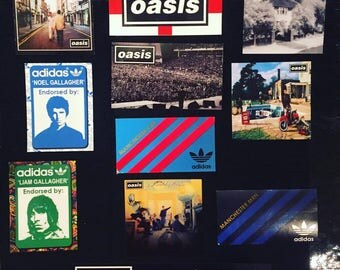 22 x Oasis Stickers - Aufkleber - Pegatinas - Adesivi - Liam Noel Gallagher Poster Pretty Green  Vinyl  Live Forever Adidas Manchester