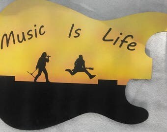 Guitar Shaped Wall Art
