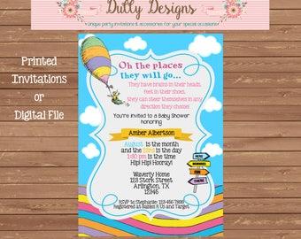 Dr. Seuss Baby Shower Invitation, Dr. Seuss Baby Shower Invite, Baby Shower Invitation,  Baby Shower Invite, Baby Shower, Dr. Seuss Invite