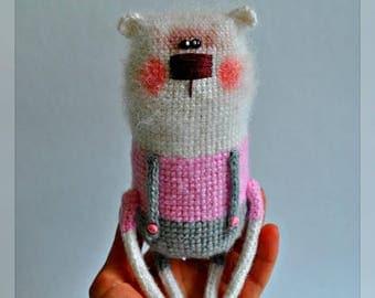 Amigurumi teddy bear toy crochet teddy bear toy stuffed teddy stuffed bear toy soft bear toy mini bear toy knit bear doll miniature toy
