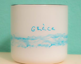 Hand-painted White Mug Cup