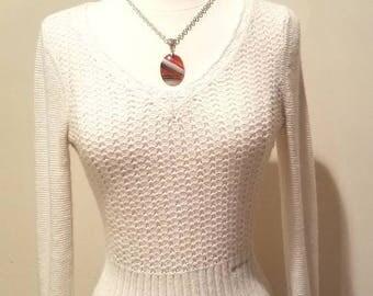 Winter White Angora Sweater
