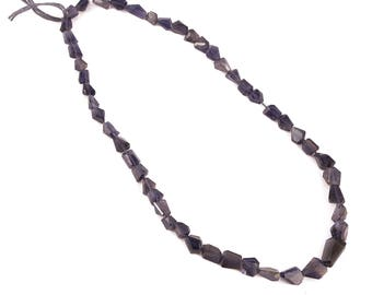 Drilled Iolite beads 16 Inch