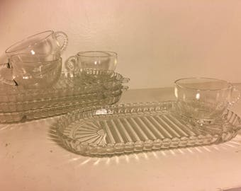 Anchor Hocking Clear Snack Sets