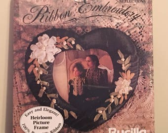 Bucilla Silk Ribbon Embroidery Kit Romantic Reflections Heirloom Picture Frame