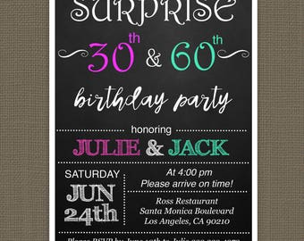 Joint party invite Etsy