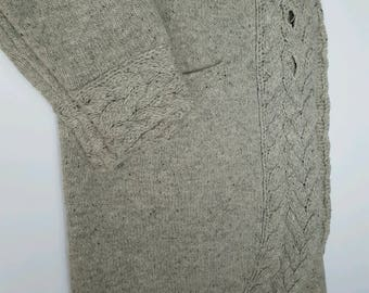 Grey Celtic Weave Irish Sweater