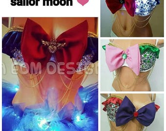Made to order led light up sailor moon  bra ONLY no tutu