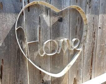 Napa Valley Wine Barrel Hoop Heart Home Hanging Art