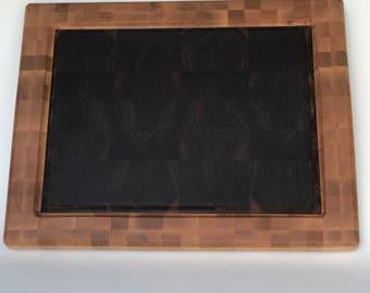Walnut with maple boarder cutting board