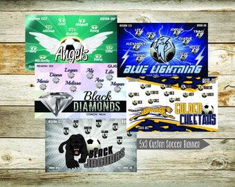 Custom 5x3 Soccer Banners