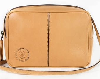 Shoulder bag - Natural leather - Made in Italy