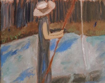 Lady with the Fishing Pole