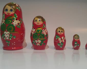 Russian nesting doll red babushka(Matreshka)