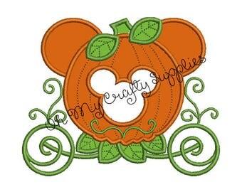 Pumpkin Carriage Applique Design