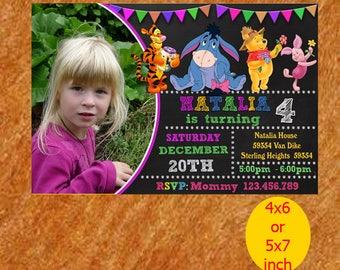 Winnie The Pooh Invitation / Winnie The Pooh Birthday Invitation / Winnie The Pooh Party / Winnie The Pooh Patrol Printable