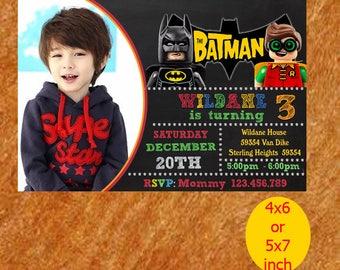 Batman And Robin Invitation / Batman And Robin Birthday / Batman And Robin Party /  Batman And Robin Lego Printable
