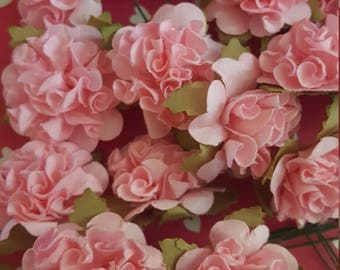 Pink Paper Twistable Flowers