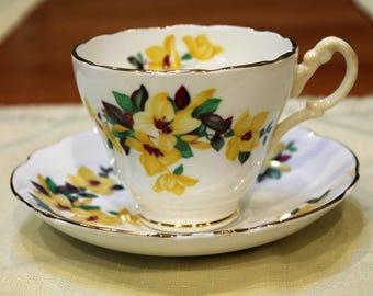 Regency Fine English Bone China Teacup and Saucer
