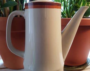 Vintage ceramic coffee pot, ceramic tea pot, vintage ceramic, coffee maker, tea maker, ceramic dishes, Haniwa Stone 1960 1970