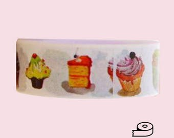 Cupcakes and Cakes Washi Tape sweets desserts planner decorative scrapbooking masking