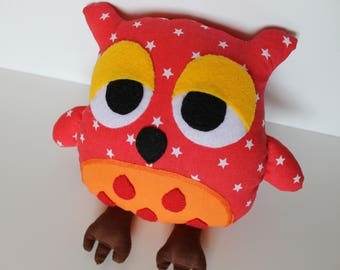 Soft owl / Stuffed toy / Handmade owl / Cotton animal / Baby gift / Nursery decor / Toy owl / Birthday gift/ Decorative owl/ Interior design
