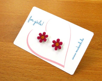Girl children jewelry ear studs earrings 925 Silver flowers