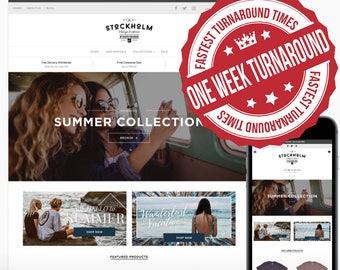 Standard One Week Turn Around E-Commerce Website