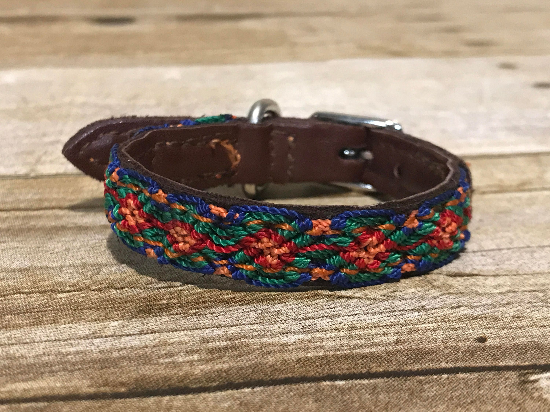 Mexican Woven Dog Collar