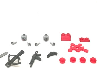 Zombie Minifigure Conversion Pack, Custom Lego and Compatible Accessory Set