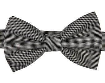 Puppytooth Bow Tie Black