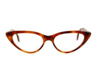 Big bold 50s style Cat eye glasses Beautiful sexy large contemporary 'BARDOT' Amber Glow