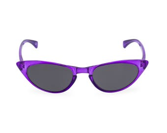 1950s 60s style Amethyst CAT EYE sunglasses, NEW to original vintage design best seller 'Peggy''