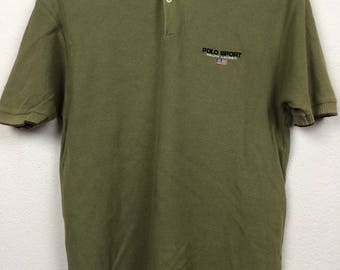 Vintage 90 Polo Sport Ralph Lauren Polo Shirt Size M
