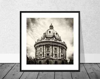 Oxford Art Print, Oxford Photography, Radcliffe Camera, Oxford University, Black and White Photography, Home Décor, Graduation Gift, Giclee
