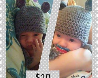 Baby earflap hats with ears