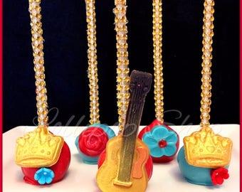 12 Elena of Avalor Cake pops (Birthday, party favors, Chocolate, disney junior, disney princess)