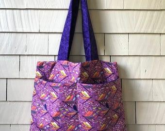 Dragonfly Tote Bag | Kids Tote Bag | Book Bag | Diaper Bag | Fabric Tote Bag | Gift for Her | Daycare Bag