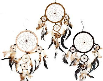 Bali Dreamcatchers  Small Round   Cream  Coffee or Chocolate colour