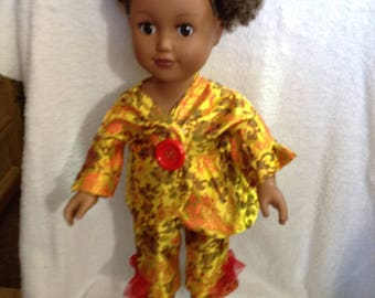 "18"" Brocade Fabric Doll Clothes"