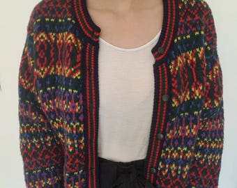 Vest / vintage / Benetton / colorblock