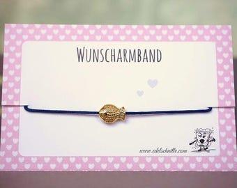 Desire bracelet * fish * gold