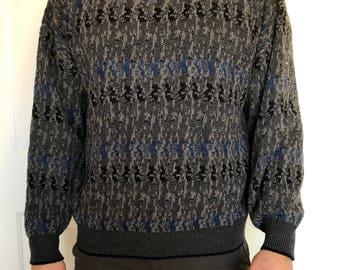 Vintage Men's Jantzen Crewneck Sweater Wool Blend Sized Medium