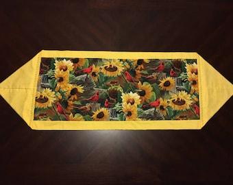 Homemade Sunflower Yellow Table Runner
