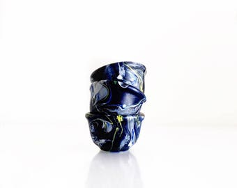 Shooting Star Modern Ceramic Mini Bowls