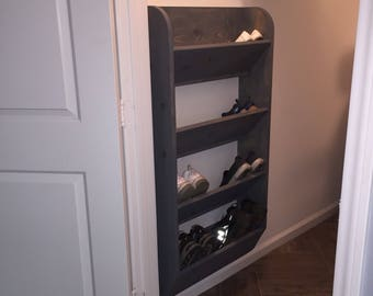 Wall hung shoe rack
